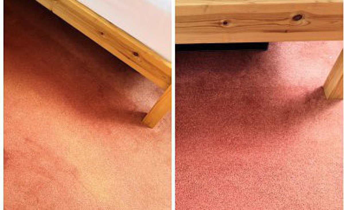 Carpet dyeing - colour change