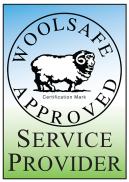 Carpet cleaning WoolSafe logo